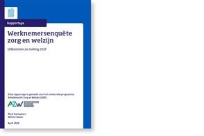Omslag, Werknemersenquête Zorg en Welzijn, uitkomsten 2e meting 2019