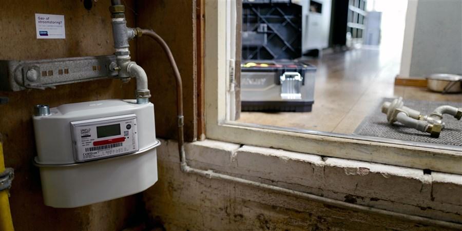 Elektriciteitsmeter in meterkast in woning