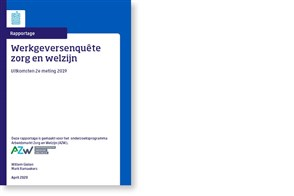 Omslag, Werkgeversenquête Zorg en Welzijn, uitkomsten 2e meting 2019