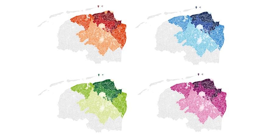 kleuren mogelijkheid van kaarten