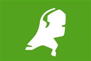 Schematische kaart van Nederland op groen vlak