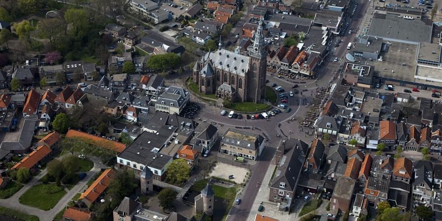 Luchtfoto van Schagen