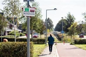 Woonwijk met buurtpreventie