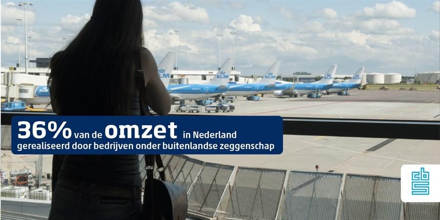 36% van de omzet in Nederland