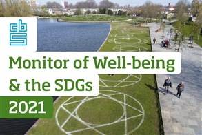 Cover of webpublication Monitor of Well-being &the SDGs 2021