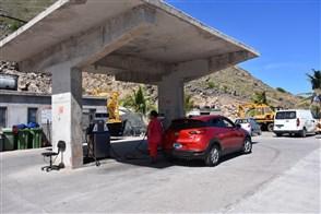 Filling station on Saba
