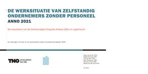 Omslag pubicatie 'De werksituatie van zelfstandigen zonder personeel'
