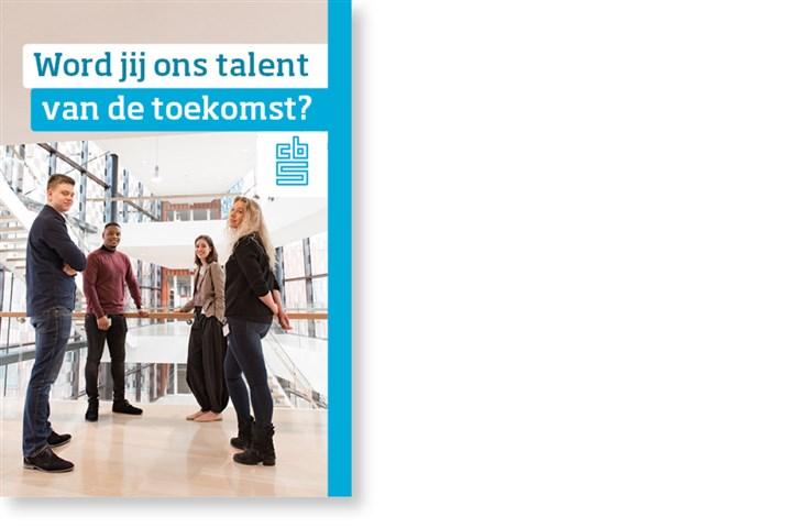 Omslag flyer 'Word jij ons talent van de toekomst?'