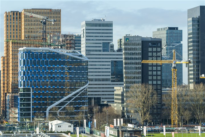 Large enterprises located on Zuidas in Amsterdam