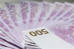 500 eurobiljetten in een waaier