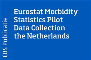 Omslag Eurostat Morbidity Statistics Pilot Data Collection the Netherlands