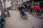 Een speed-pedelec in centrum Nijmegen