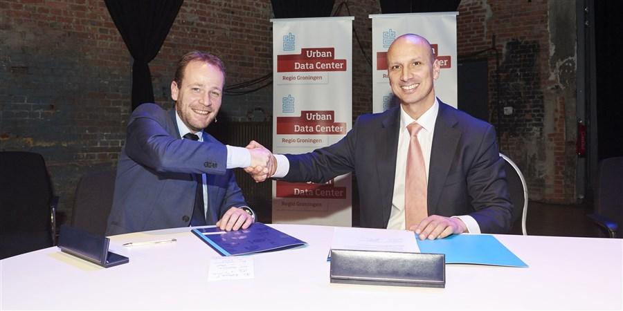 ondertekening Urban Data Center Groningen