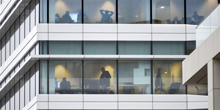 RBS Royal Bank of Scotland vergaderen op kantoor.