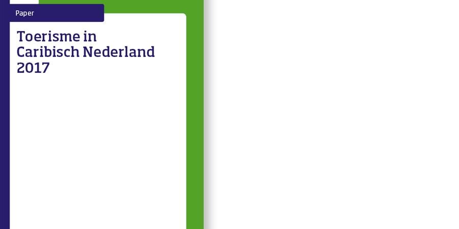 Omslag publicatie 'Toerisme in Caribisch Nederland 2017'