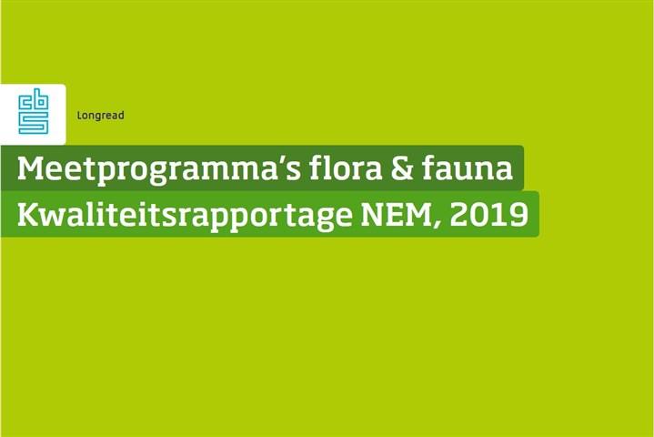 Omslag, Meetprogramma's flora en fauna, Kwaliteitsrapportage NEM, 2019