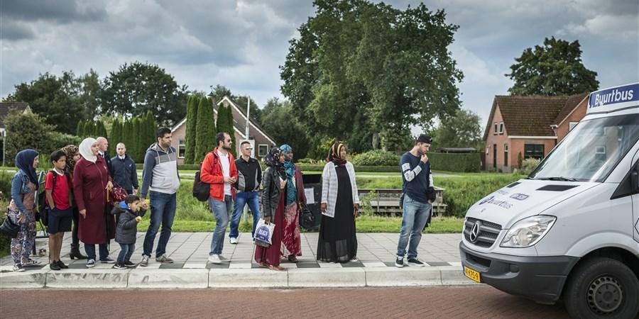 In het Drentse dorpje Oranje worden vluchtelingen opgevangen op vakantiepark Oranje