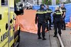 Dodelijk verkeersongeval in het centrum van Rotterdam met politie en ambulance inmiddels aanwezig.