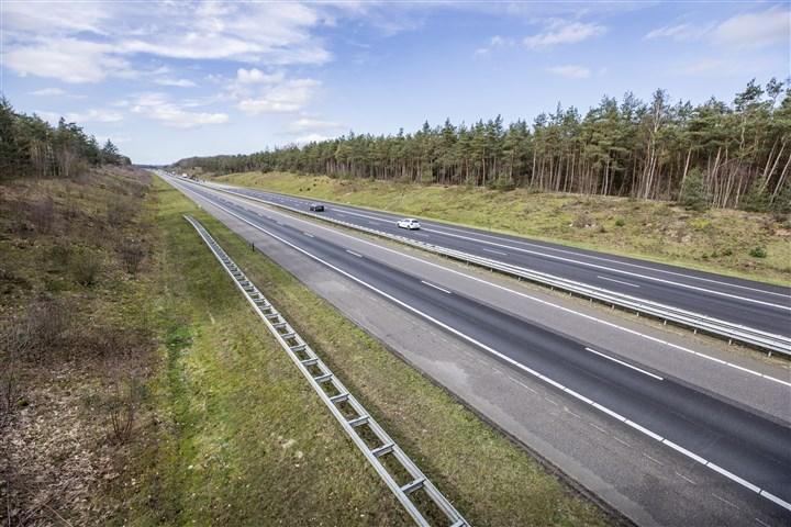 Snelweg op de Veluwe