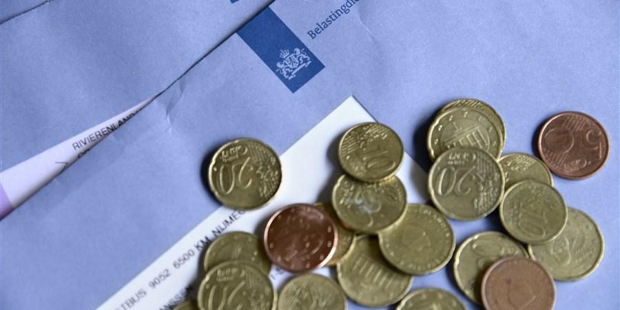Belastingenvelop met kleingeld