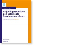 Omslag, Vrijwilligerswerk en de Sustainable Development Goals