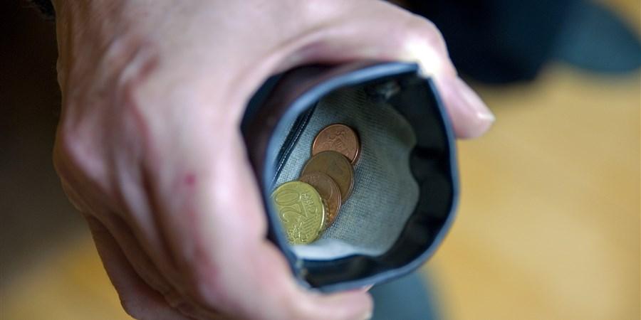 Portemonee met kleingeld