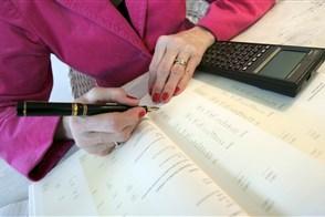 accountant controleert de boeken.