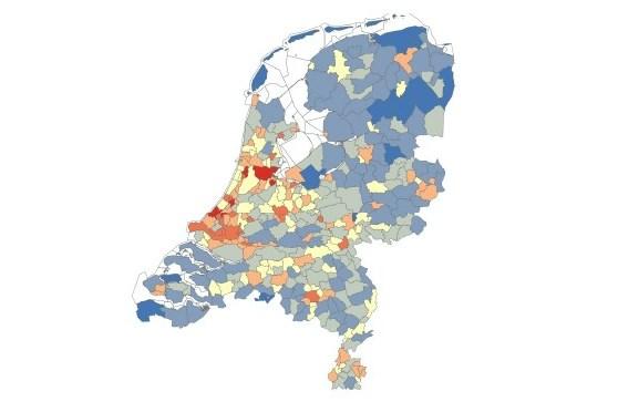 voorbeeld van wijk- en buurkaart van Nederland