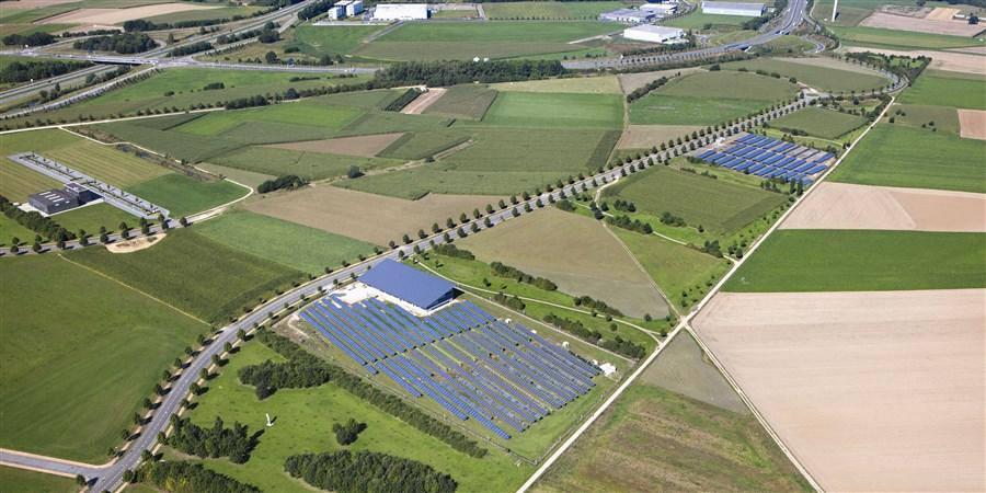 Luchtfoto van Limburg