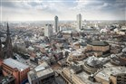 Overzichtsfoto van Eindhoven genomen vanaf de Vestedatoren