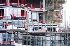 Foto van een pand in aanbouw