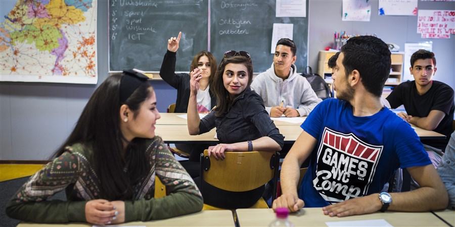 Asielkinderen volgen onderwijs in internationale schakelklas