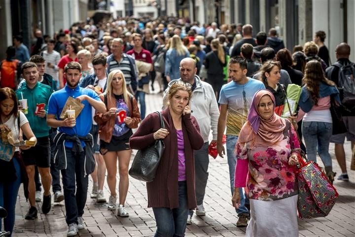 Mensen in Amsterdam