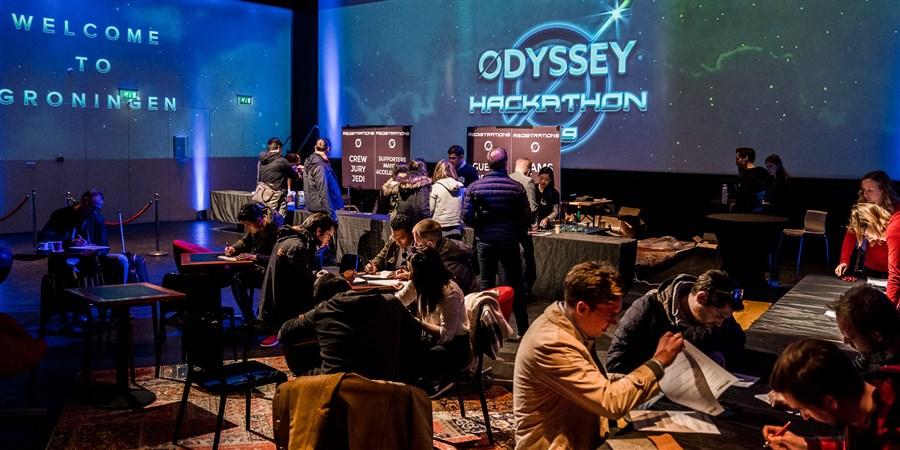Bij de Odyssey hackathon kwamen kennis en creativiteit op het gebied van blockchain en kunstmatige intelligentie samen