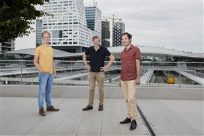 Mart Landman (links), Henk Verduin en Hans Langenberg