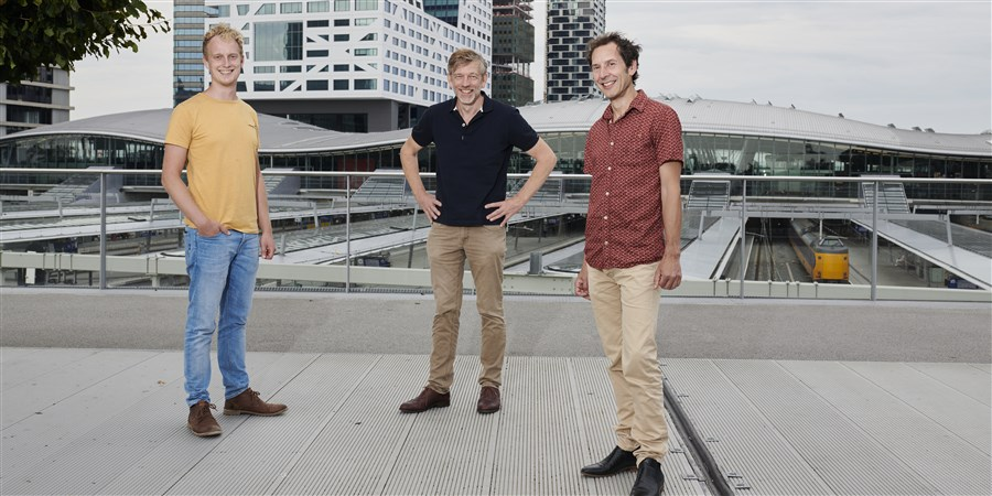 Mart Landman (left), Henk Verduin and Hans Langenberg