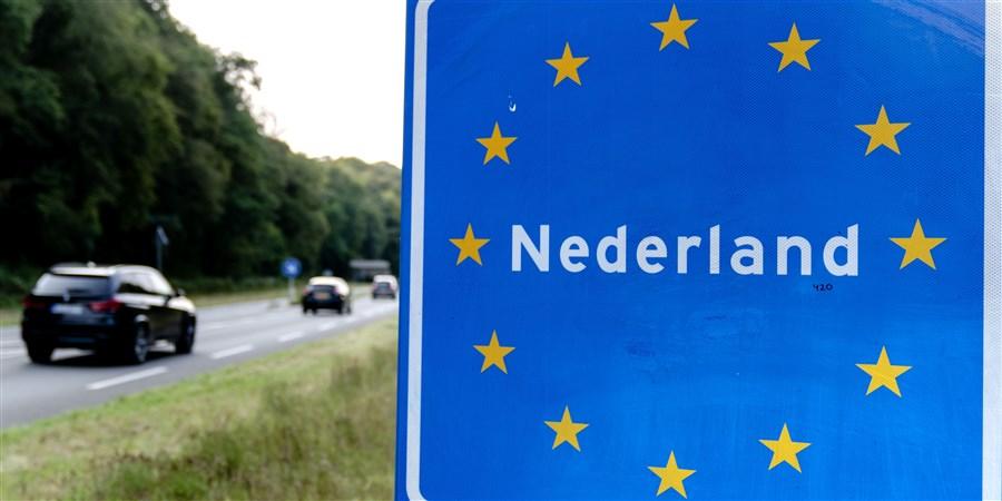 Bord bij de Nederlands - Duitse grensovergang
