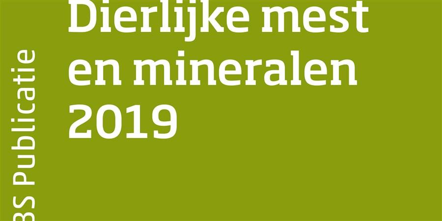Omslag publicatie Dierlijke mest en mineralen 2019