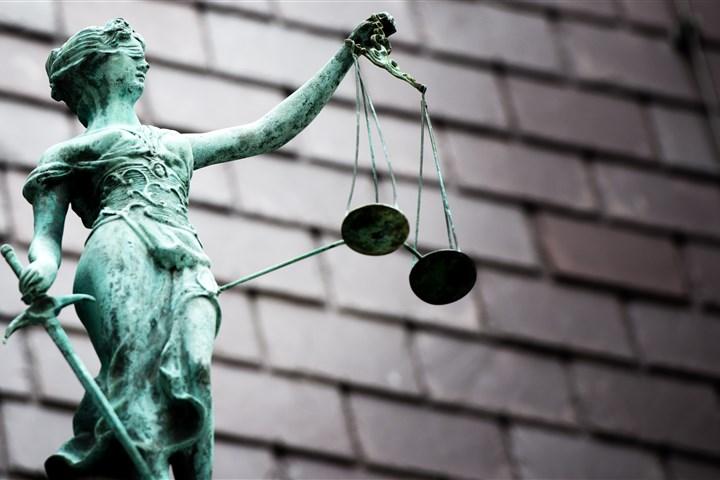 Beeld van Vrouwe Justitia